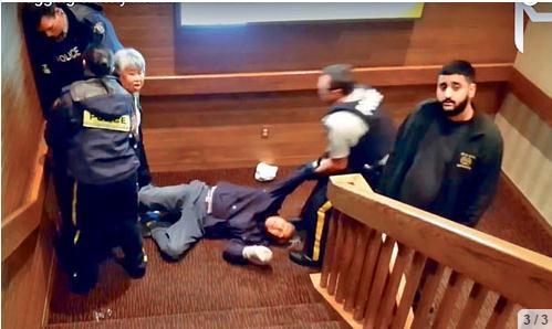 完整视频曝光 八旬老夫妇怒指皇家骑警暴力执法