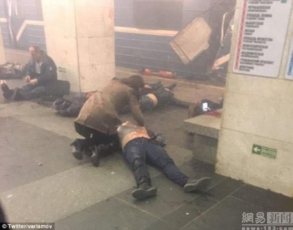 慎入:俄罗斯地铁恐袭爆炸现场