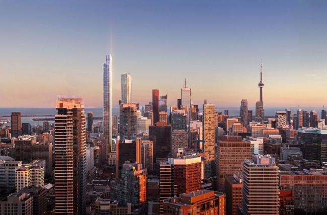 多伦多最高楼横空出世 新地标原来长这样