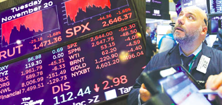 美股大泻 短线还看川习会 加股及加元随油价下跌