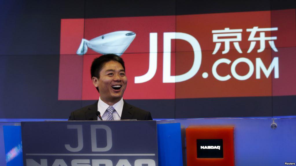 中国电子商务公司京东(JD.com)的首席执行官兼创始人刘强东。(2014年5月22日)