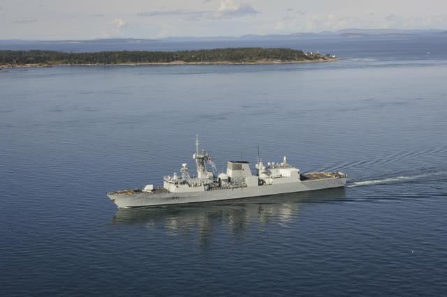 台媒:加拿大海军一艘护卫舰穿越台湾海峡
