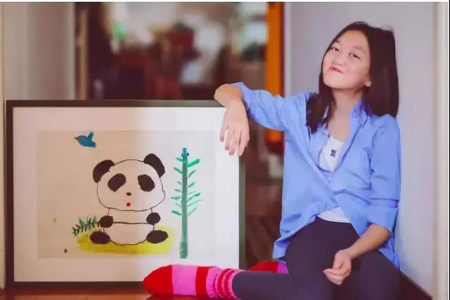 王菲女儿李嫣画画有天赋?7岁画作卖出90万
