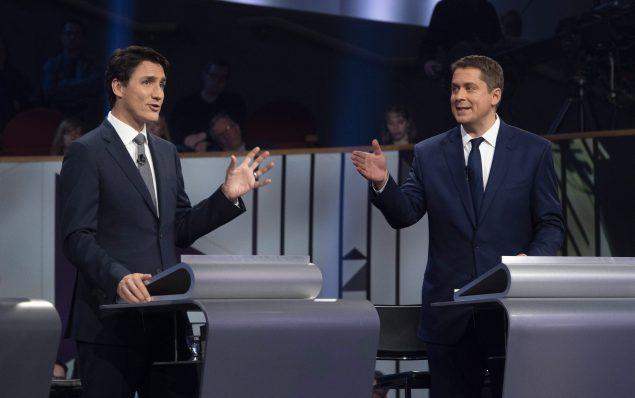特鲁多和保守党领袖希尔大选后首次会面