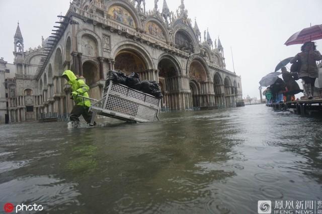 威尼斯又发大水 市长:这座城市危在旦夕