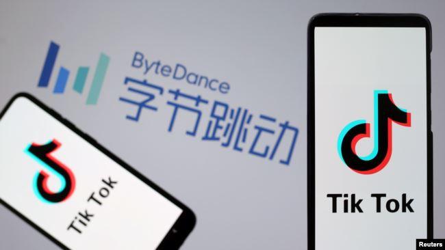 图为字节跳动和抖音海外版TikTok的标识。