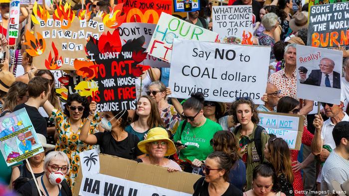 Australien Sydney Studenten Anti Regierungsproteste Buschfeuer (Getty Images/J. Evans)