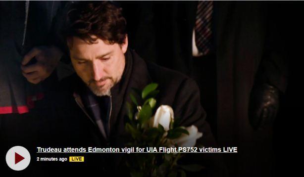 杜鲁多前往埃德蒙顿 参加坠机遇难者纪念活动