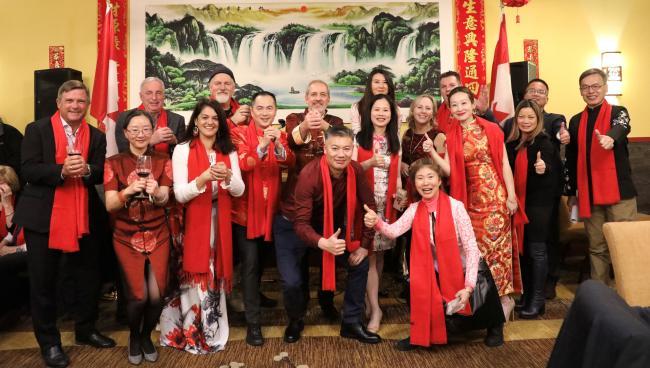南素里-白石商会和磐石会联袂举办首届中国新年晚宴