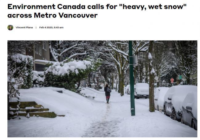20厘米暴雪再袭大温 最多下到明早 这下又要瘫了