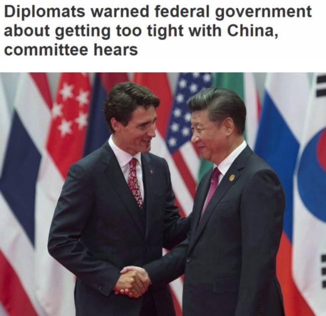 加拿大全球事务部: 与中国走得太近没有好处