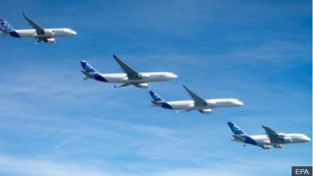 飞机制造商空中客车宣布全球裁员计划