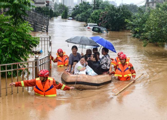 水患波及中国27个省 武汉刚脱疫情又现汪洋一片