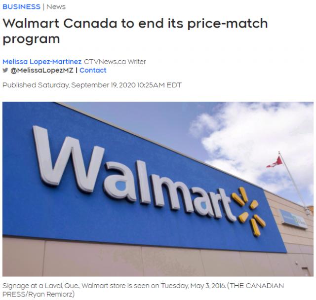 加拿大沃尔玛取消这项省钱服务 网友:不去了