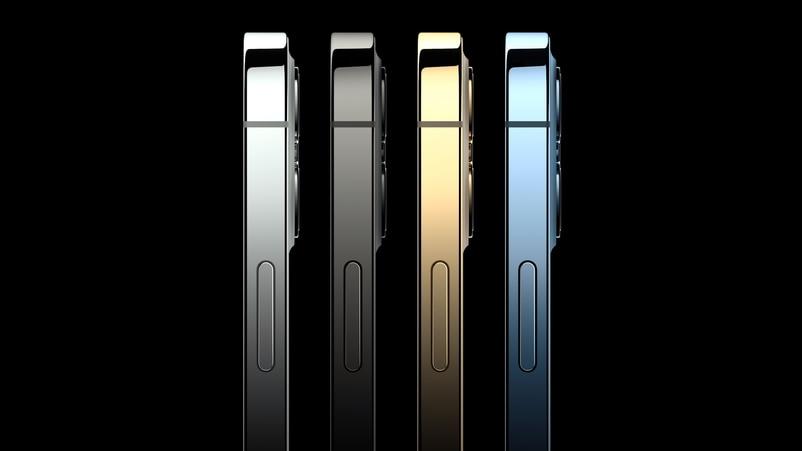 Pro系列設4色,黑、白、金及藍,但藍不及iPhone 12的深。