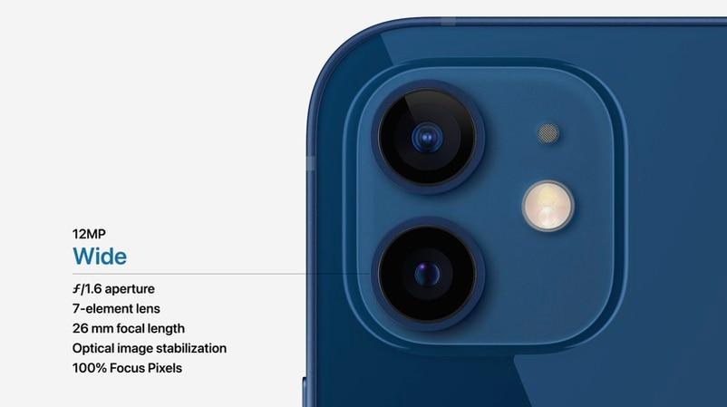iPhone 12和iPhone 12 Mini的雙鏡頭系統也有升級,超廣角也可用夜間模式。