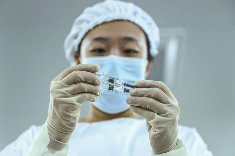 中國國藥集團研發的武漢肺炎(COVID-19,武漢肺炎)疫苗結果出爐,保護效力達到79.34%。(美聯社)