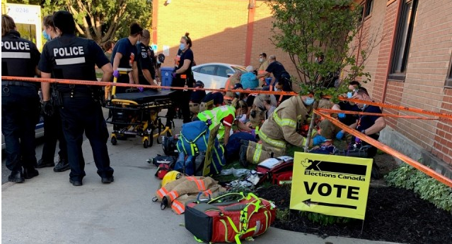 司机失控撞向投票民众 9人被撞包括一5岁儿童