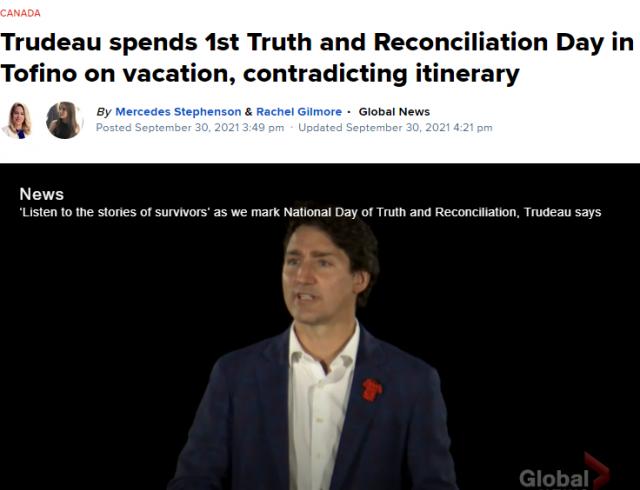 加拿大首个真相与和解日 特鲁多带全家度假去了