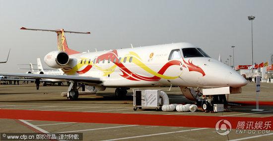 (组图)惊艳!成龙2亿私人飞机亮相上海