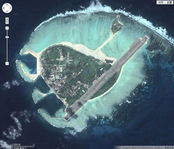 永兴岛(谷歌卫星图片).