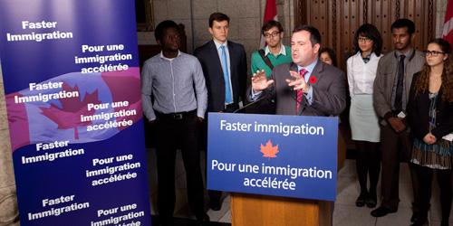 2013加拿大技术移民接收人数为55,300人(图1)