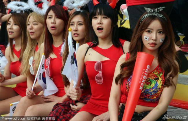 一大波韩国美女球迷来袭