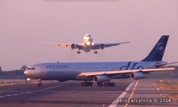 惊险!西班牙两架飞机险酿相撞严重大灾难