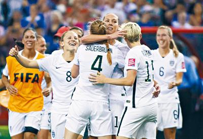 女足世界杯:美国2:0击败德国进入决赛