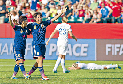 女足世界杯英军摆乌龙痛哭 日美周日争冠