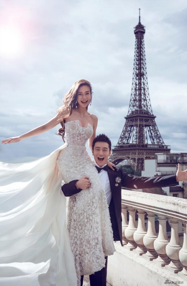 教主夫妇婚纱照曝光!巴黎铁塔下甜蜜热吻