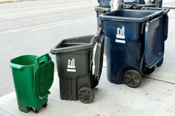 分配三个颜色的垃圾桶