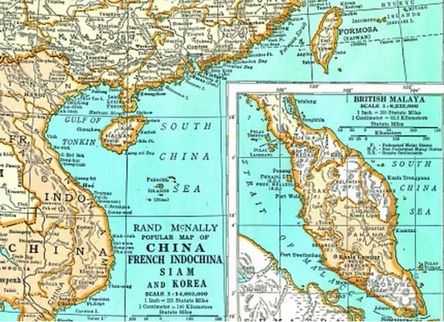 内中地图对中国南海岛礁有详细描述