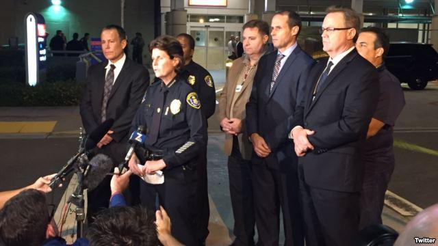 美加州爆枪击案:2名警察遇袭1人死亡