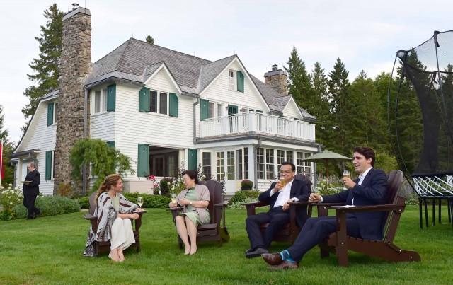 解码招待李克强的加拿大总理官邸 湖光山色
