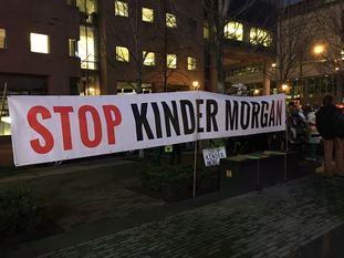 数百名示威人士集体抗议输油管计划