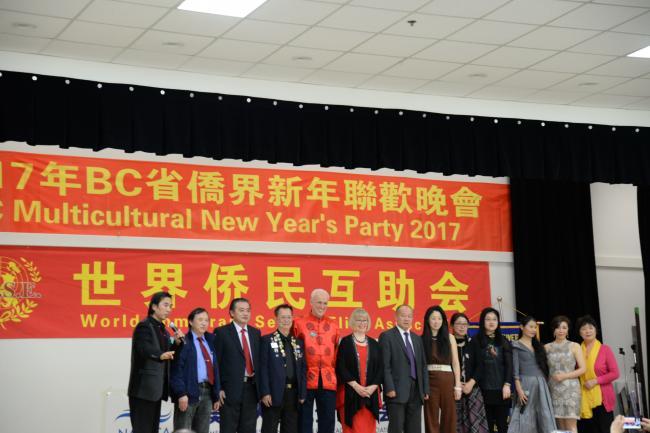 BC侨界新年联欢晚会成功举办 气氛热烈全场爆满