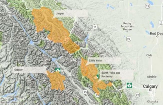加拿大公园局提醒 BC省部分地区已进入雪崩高峰期