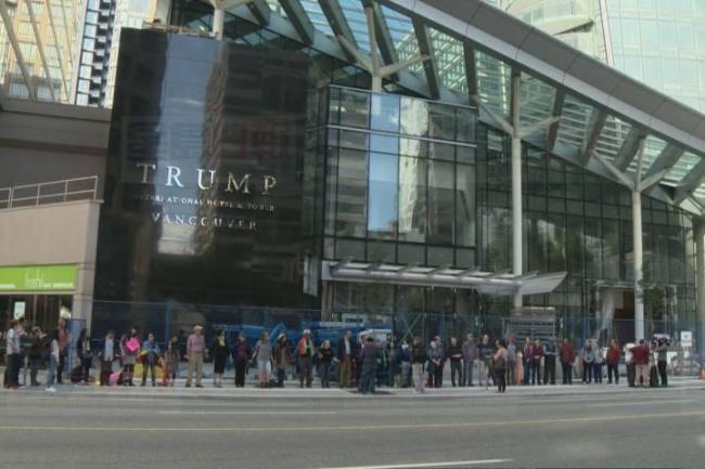 温哥华一以川普命名的大厦2月28日揭幕 将有示威