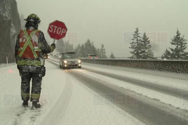 又来了 环境部向卑诗部份地区发下雪警告