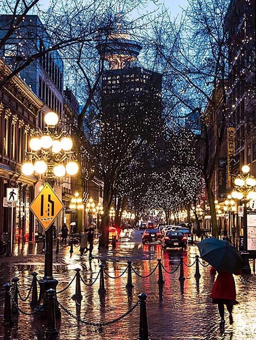 喜欢温哥华,特别是温哥华的雨