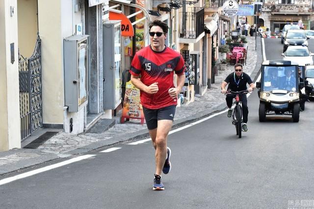 G7峰會閉幕 特魯多意大利街頭跑步好愜意