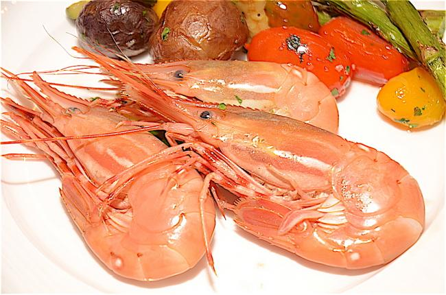 溫哥華四季酒店餐廳Yew Seafood + Bar的斑點蝦宴