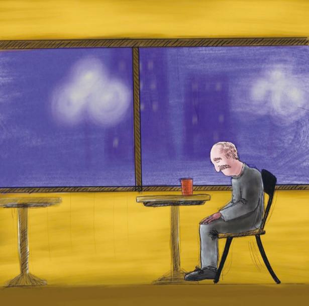 移民故事:咖啡时光里的孤独老人