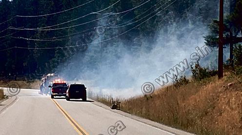 基隆拿山火不受控 灾场达465公顷