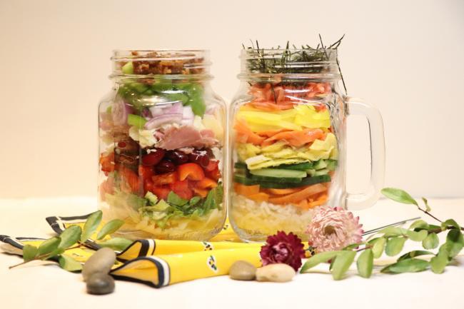 玻璃瓶料理:开学季上班族的外带便当第一餐