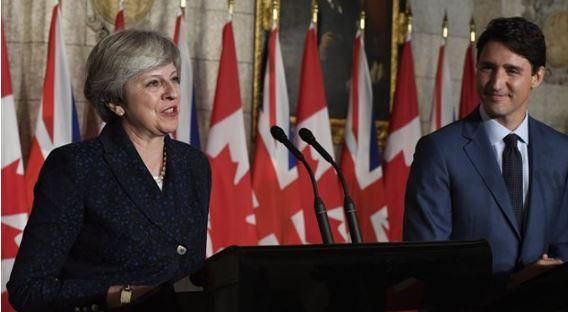英国首相访问加拿大,谈与加拿大的双边贸易