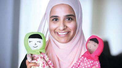 神秘人赠25手工布娃娃 全戴穆斯林头巾