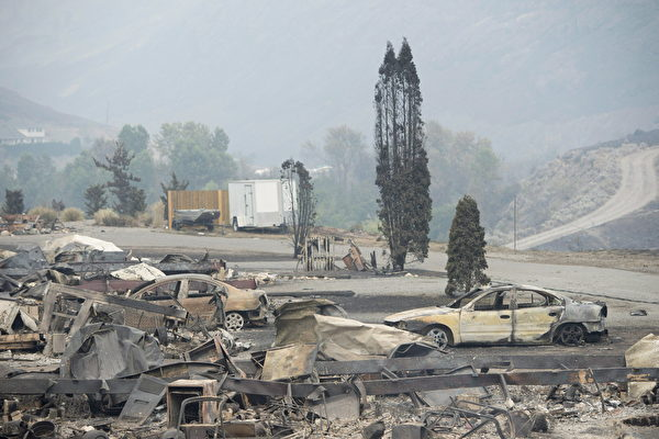 卑诗两场山火 损失预计将超1.27亿