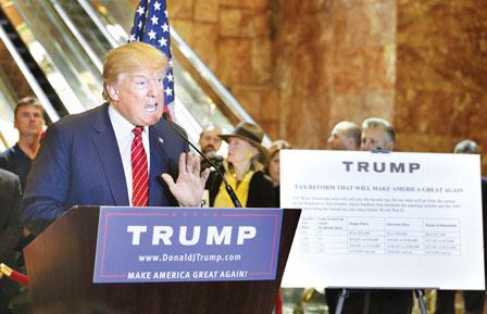 特朗普税改通过与否 美股难免调整